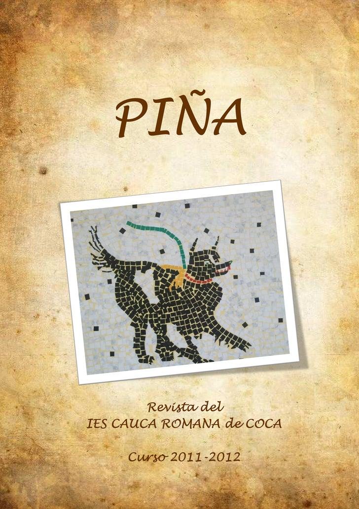 PIÑA        Revista delIES CAUCA ROMANA de COCA     Curso 2011-2012           2011 2012