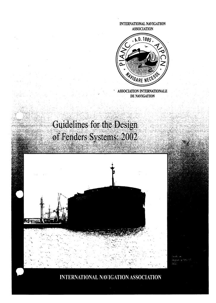 Pianc fender guidelines 2002