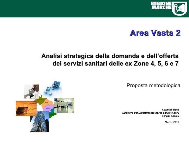 Area Vasta 2Analisi strategica della domanda e dell'offerta   dei servizi sanitari delle ex Zone 4, 5, 6 e 7              ...