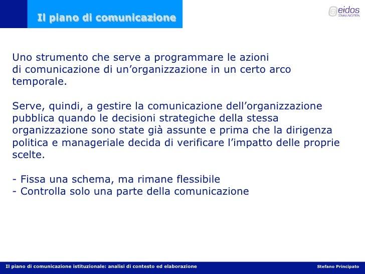Il piano di comunicazione per la PA Slide 2