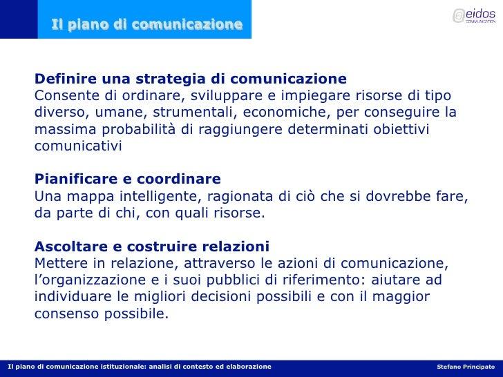 Il piano di comunicazione per la PA Slide 3