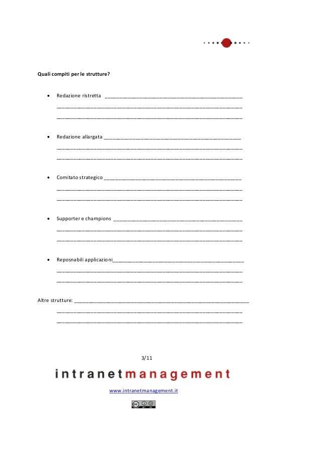 Piano di lavoro per progetti intranet Slide 3