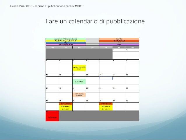 Calendario Unimore.Piano Di Pubblicazione Alessio Pisa