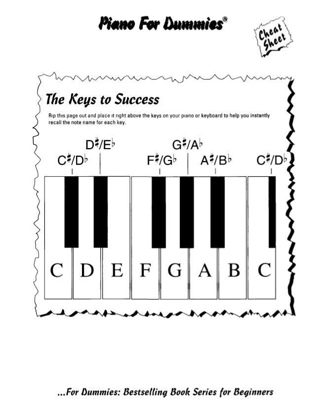 piano for dummies aprender a tocar el piano