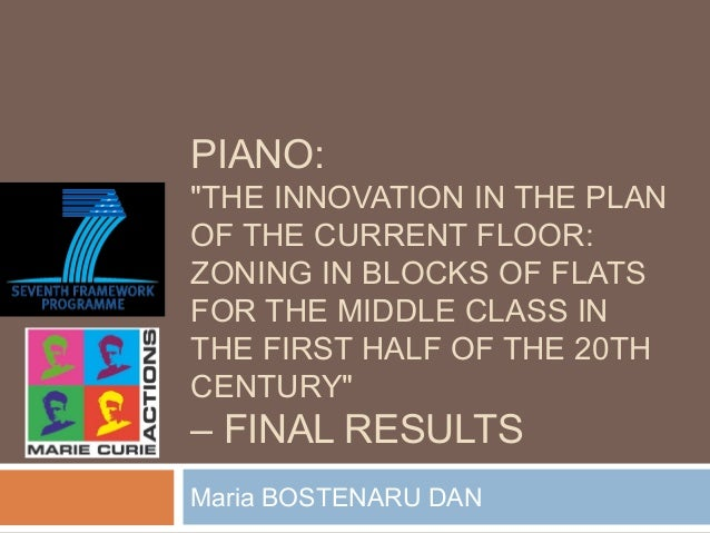 """PIANO: """"THE INNOVATION IN THE PLAN OF THE CURRENT FLOOR: ZONING IN BLOCKS OF FLATS FOR THE MIDDLE CLASS IN THE FIRST HALF ..."""