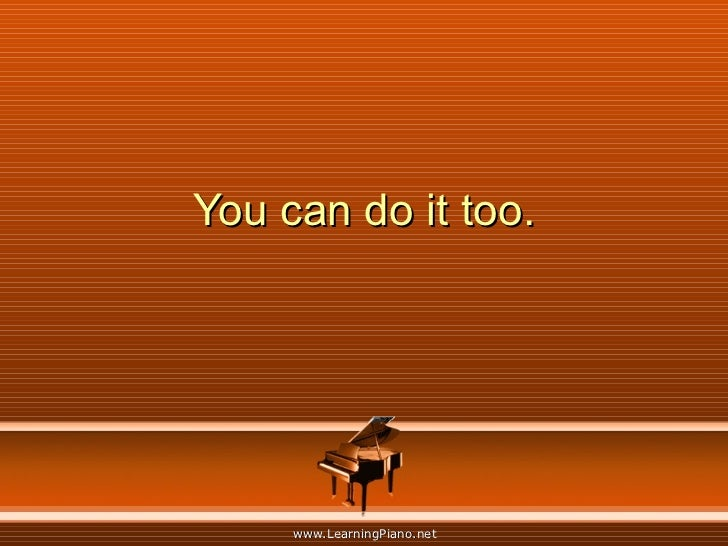 You can do it too.