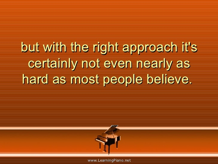 but with the right approach it's certainly not even nearly as hard as most people believe.
