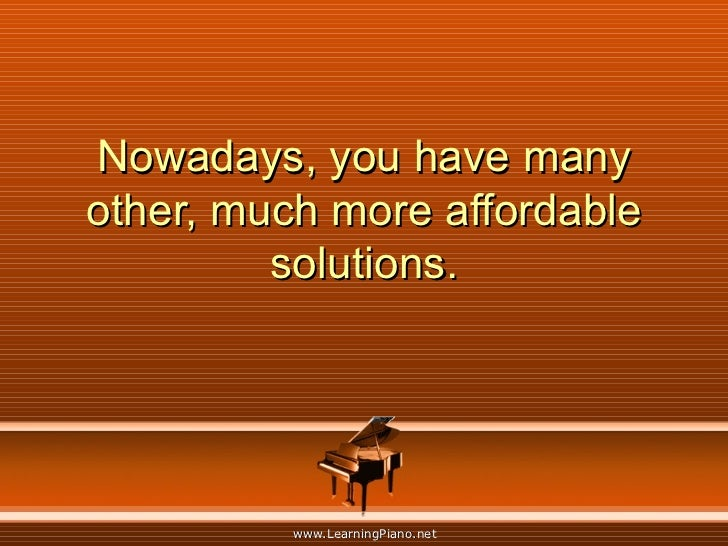 Nowadays, you have many other, much more affordable solutions.