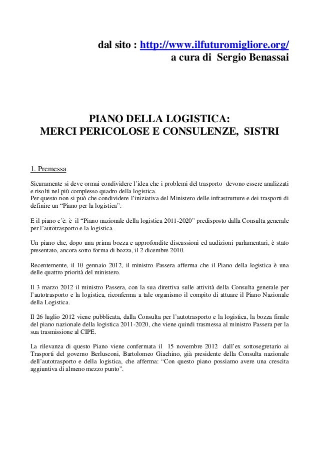 dal sito : http://www.ilfuturomigliore.org/                                             a cura di Sergio Benassai         ...