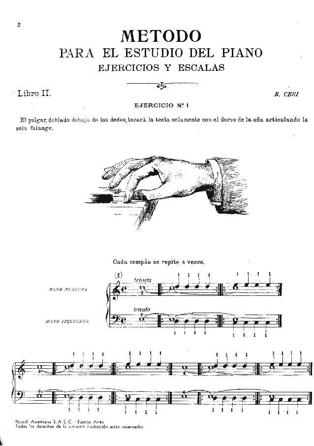 """Ifiiîîîiîj D <3 PARA EL ESTUDIO DEL PIANO EJERCICIOS Y ESCALAS  '_——î_î6'""""_'"""""""" .  ' Libro II.  51 053g]  EJERCICIO N'?  1  ..."""