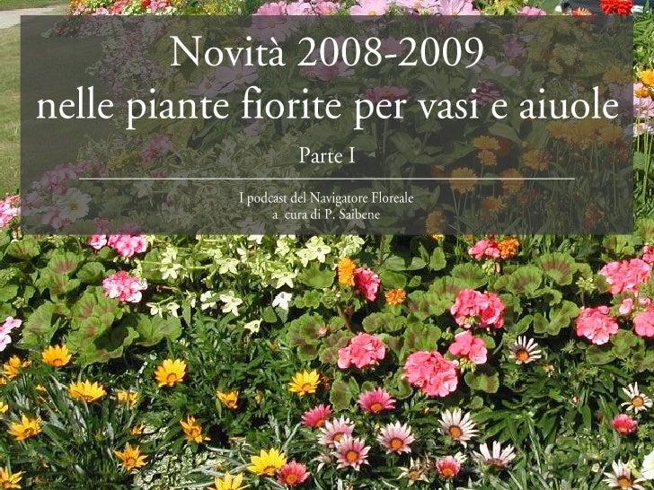 piante fiorite per vasi e aiuole prima parte