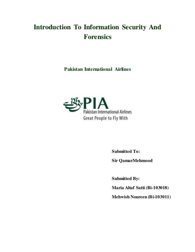 pia security rh slideshare net Saudi Airlines Pakistan International Airlines Inside