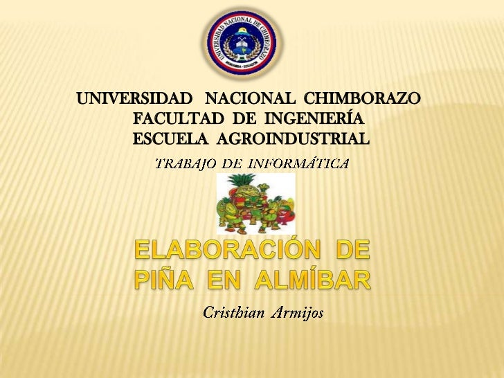 UNIVERSIDAD   NACIONAL  CHIMBORAZO<br />FACULTAD  DE  INGENIERÍA<br />   ESCUELAAGROINDUSTRIAL<br />TRABAJO  DE  INFORMÁTI...