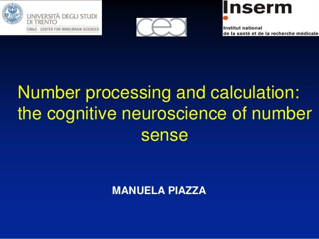 Number processing and calculation:the cognitive neuroscience of number                sense           MANUELA PIAZZA