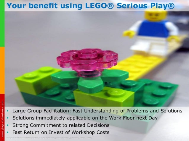 Elevator Pitch: LEGO® Serious Play®  — Strategic Decision Making & Problem Resolution with Fun! Slide 3