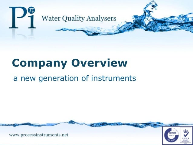 a new generation of instruments Company Overview