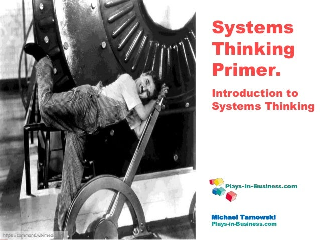 www.plays-in-business.com www.Plays-in-Business.com Systems Thinking Primer. Introduction to Systems Thinking Michael Tarn...