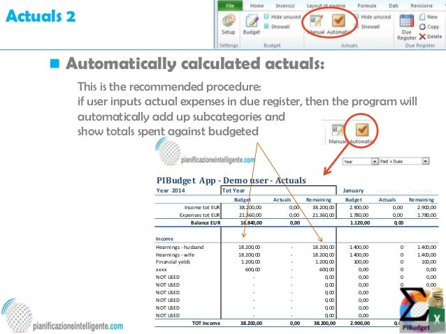 personal finance with excel pibudget app introduction