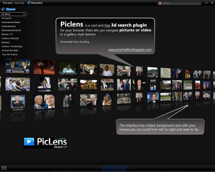 PICLENS Magical navigational interface