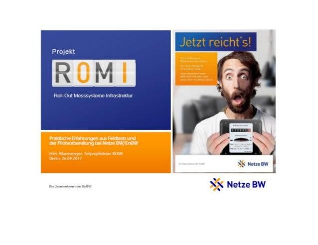 Präsentation zu Roll-Out Messsysteme Infrastruktur bei EnBW