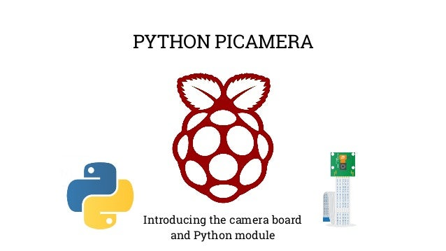PYTHON PICAMERA  Introducing the camera board  and Python module