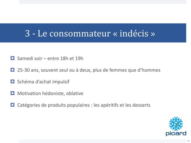 3 - Le consommateur « indécis »  Samedi soir – entre 18h et 19h  25-30 ans, souvent seul ou à deux, plus de femmes que d...