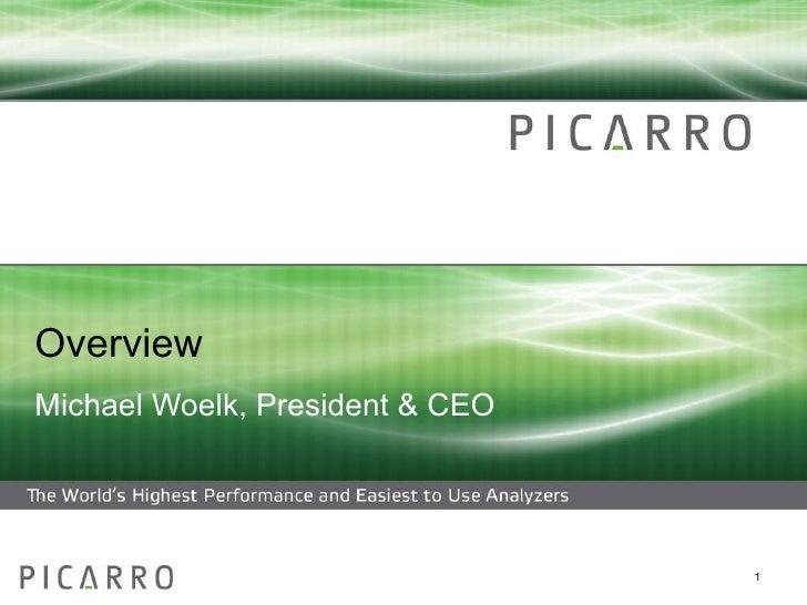 Carbon Subprime Crisis Michael R. Woelk President & CEO, Picarro, Inc.