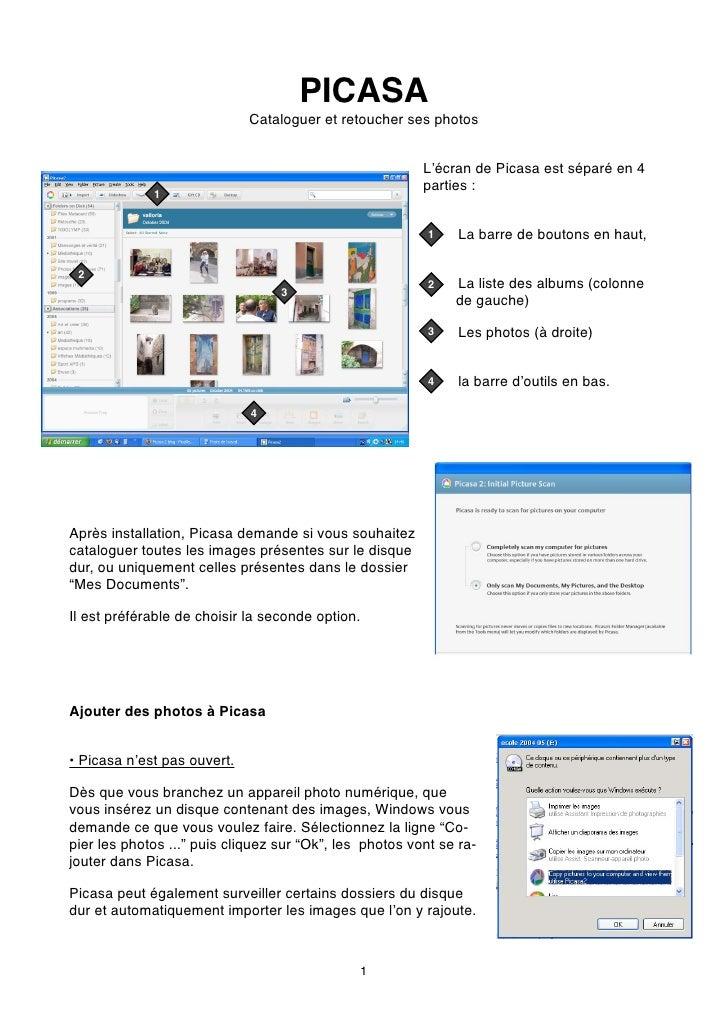 PICASA                              Cataloguer et retoucher ses photos                                                    ...