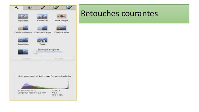 70 Retouche photo : Redresser • Double-cliquez sur la photo que vous voulez redresser: • Il y'a plusieurs photos à redress...