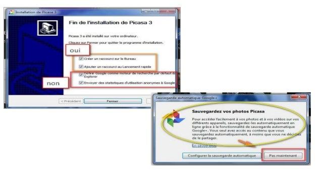 Démarrer Picasa 3 • Au premier démarrage de Picasa, celui-ci vous demande si vous désirez qu'il effectue une recherche de ...