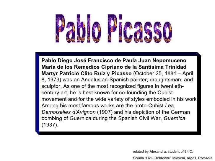 Pablo Diego José Francisco de Paula Juan Nepomuceno María de los Remedios Cipriano de la Santísima Trinidad Martyr Patrici...