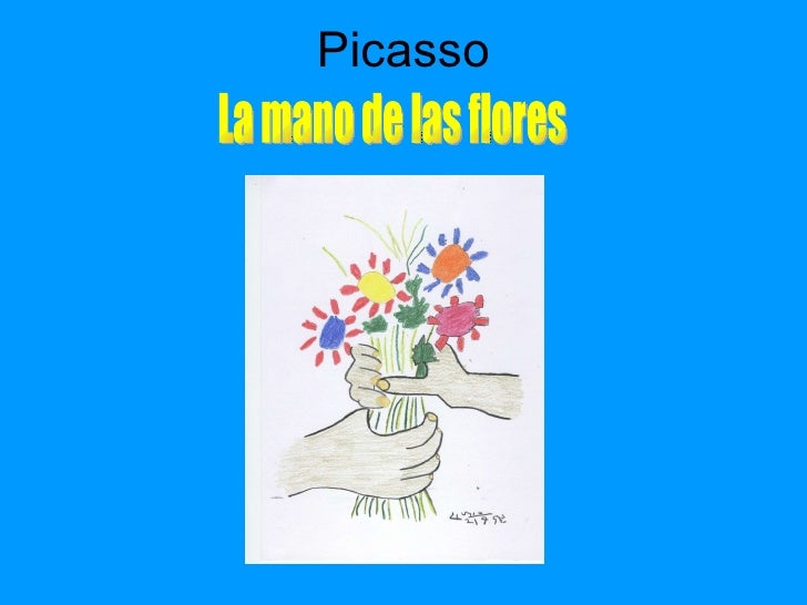 Picasso La mano de las flores