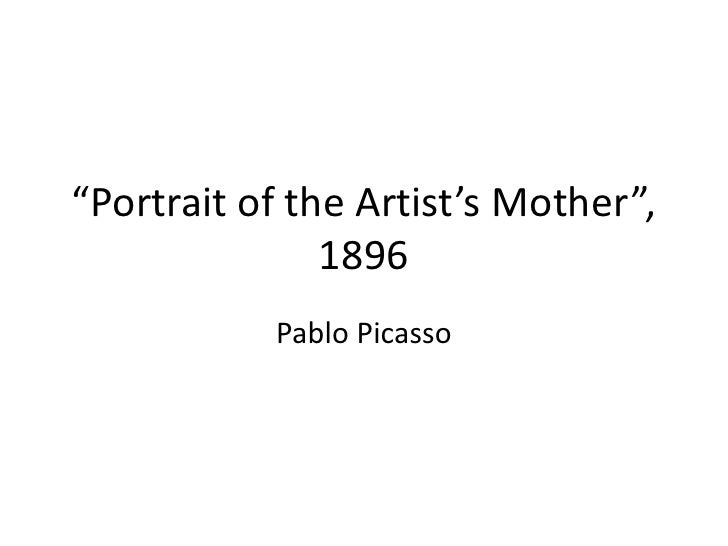 """""""Portrait of the Artist's Mother"""", 1896<br />Pablo Picasso<br />"""