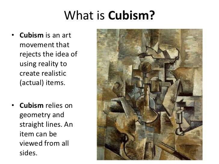 Picasso and Cubism