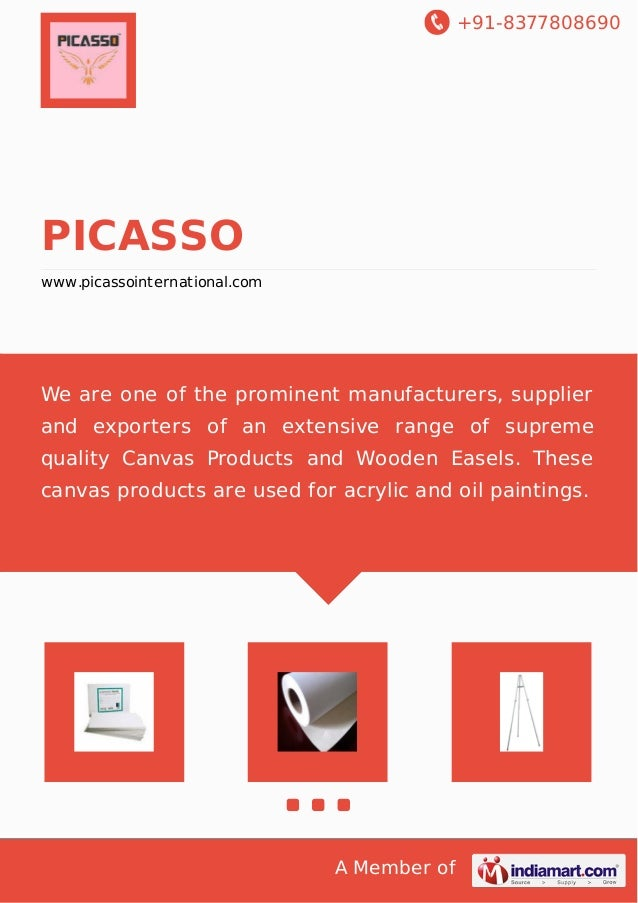 +91-8377808690 A Member of PICASSO www.picassointernational.com We are one of the prominent manufacturers, supplier and ex...