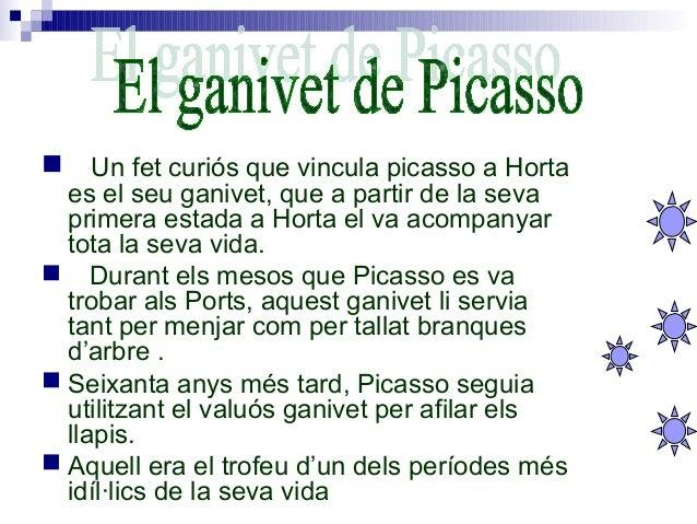 Picasso en la seva primera estada a Horta va pintar molts quadres entre ells el Mas de Quiquet. Aquest quadre va ser pin...