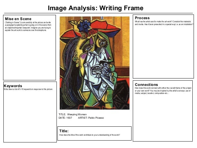 picasso analysis Suggested essay topics and study questions for 's pablo picasso perfect for students who have to write pablo picasso essays.