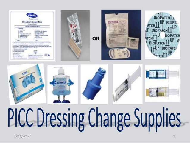 Picc care and maintenance inservice for Photo dressing change
