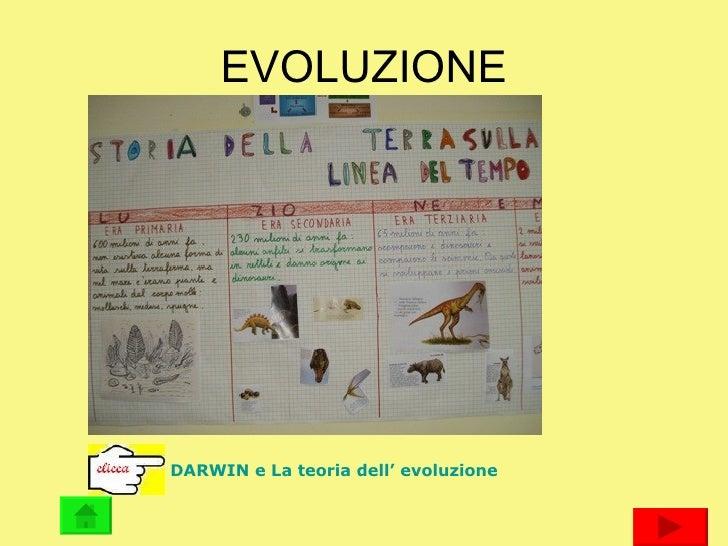 EVOLUZIONE DARWIN e La teoria dell' evoluzione