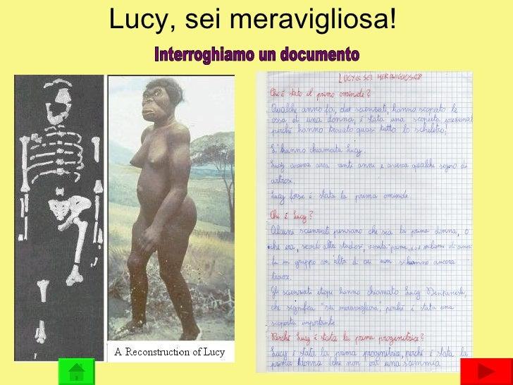 Lucy, sei meravigliosa! Interroghiamo un documento
