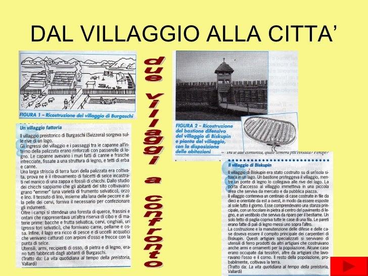 DAL VILLAGGIO ALLA CITTA' due villaggi a confronto