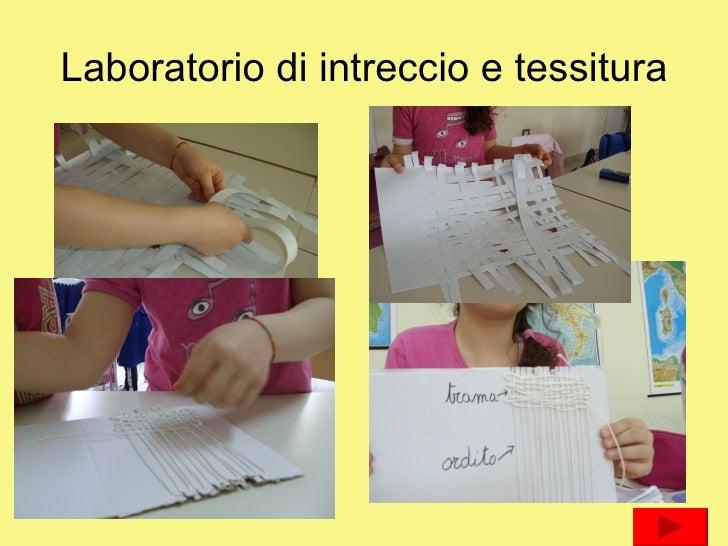 Laboratorio di intreccio e tessitura
