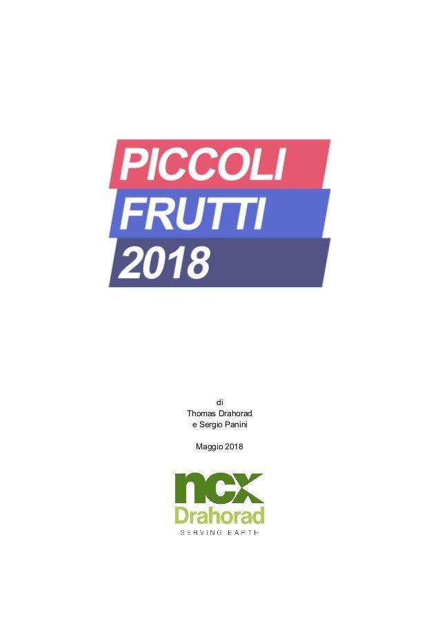 di Thomas Drahorad e Sergio Panini Maggio 2018