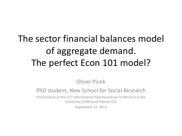 The sector financial balances model  of aggregate demand.  The perfect Econ 101 model?  Oliver Picek  PhD student, New Sch...