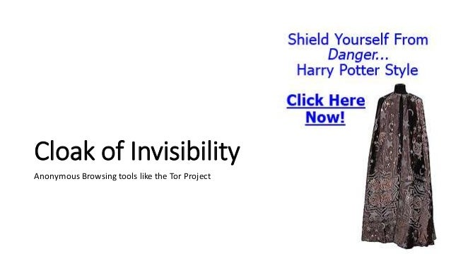 Cloak of Invisibility Top reasons why people want to hide their IP address: 1. Hide their geographical location 2. Prevent...