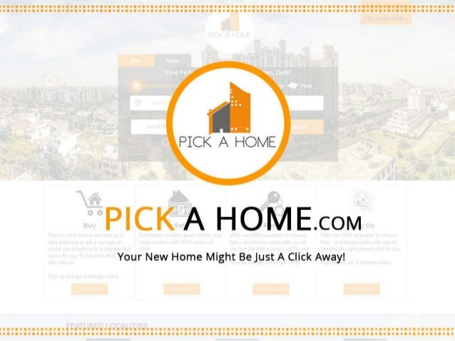 Why Pickahome? We are India's most consumer centric Real Estate platform. We are not just a property portal but provide al...