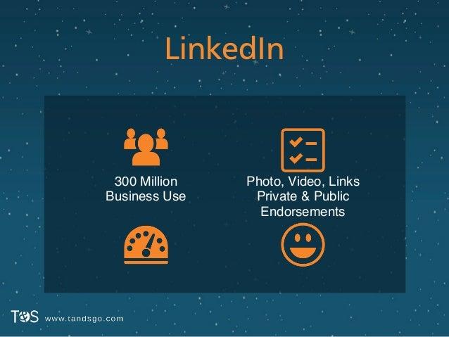 LinkedIn Photo, Video, Links! Private & Public! Endorsements 300 Million! Business Use