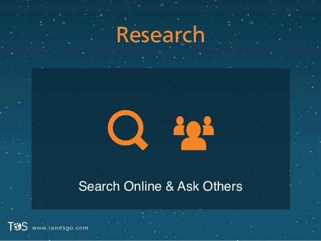 Research Search Online & Ask Others