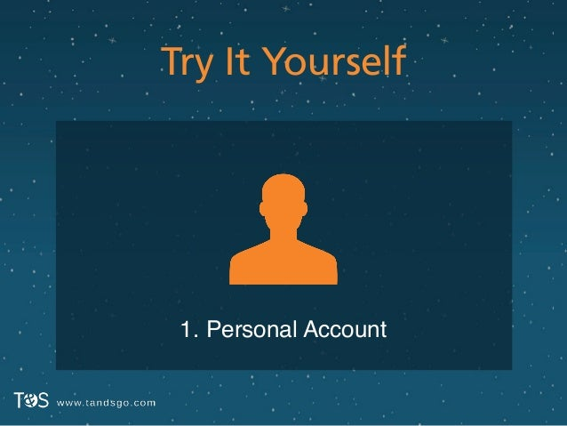 Try It Yourself 1. Personal Account
