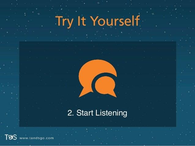 Try It Yourself 2. Start Listening